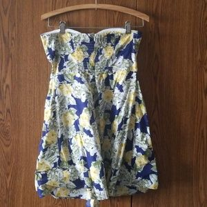 feathers Dresses - New Strapless Flower Mini Dress